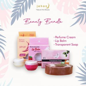 Paket Beauty Bundle Jehan || Perfume Cream + Lip Balm + Sabun Wajah
